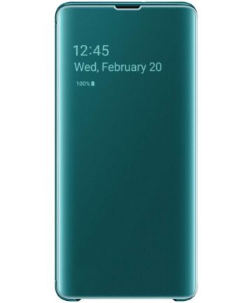 Samsung Galaxy S10 Plus Clear View Cover Groen