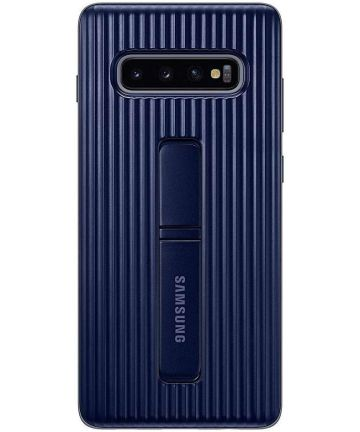Samsung Galaxy S10 Plus Protect Stand Cover Blauw