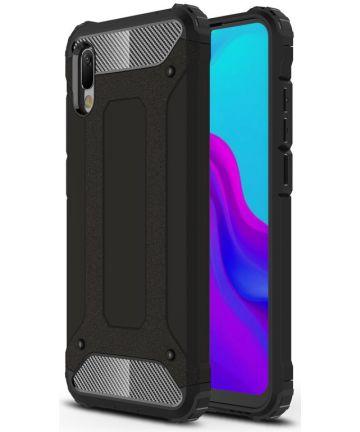 Huawei Y6s / Y6 (2019) Hoesje Hybride Zwart Hoesjes