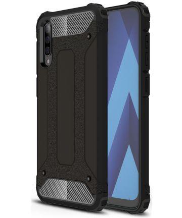 Samsung Galaxy A50 Hoesje Shock Proof Hybride Back Cover Zwart Hoesjes