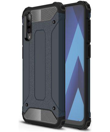Samsung Galaxy A50 Hoesje Shock Proof Hybride Back Cover Donker Blauw Hoesjes