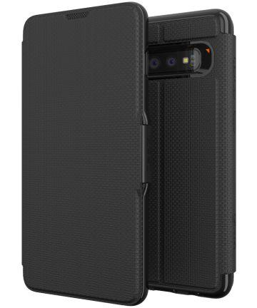 Gear4 D3O Oxford Book Case Hoesje Samsung Galaxy S10 Plus Zwart Hoesjes