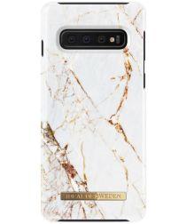 iDeal of Sweden Samsung Galaxy S10 Fashion Hoesje Carrara Gold