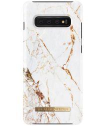 iDeal of Sweden Samsung Galaxy S10 Plus Fashion Hoesje Carrara Gold