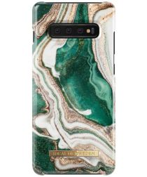 iDeal of Sweden Samsung Galaxy S10 Plus Fashion Hoesje Golden Jade