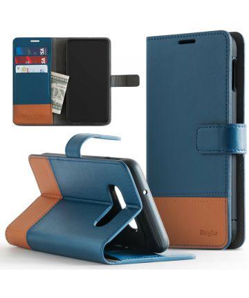 Ringke Wallet Samsung Galaxy S10 Book Case Blauw Hoesjes