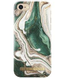 iDeal of Sweden iPhone SE 2020 Fashion Hoesje Golden Jade Marble