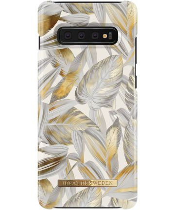 iDeal of Sweden Samsung Galaxy S10 Plus Fashion Hoesje Platinum Leaves Hoesjes
