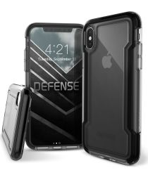 Defense Clear Apple iPhone XS / X Hoesje Transparant/Zwart