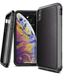 Defense Lux Apple iPhone XS Max Hoesje Leather Zwart