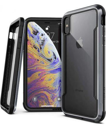 Raptic Shield Apple iPhone XS Max Hoesje Transparant/Zwart Hoesjes