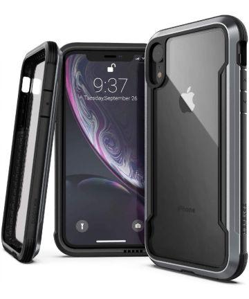 Raptic Shield Apple iPhone XR Hoesje Back Cover Transparant/Zwart Hoesjes