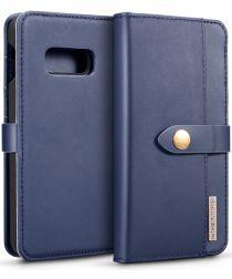 Samsung Galaxy S10E Leren 2-in-1 Bookcase en Back Cover Hoesje Blauw