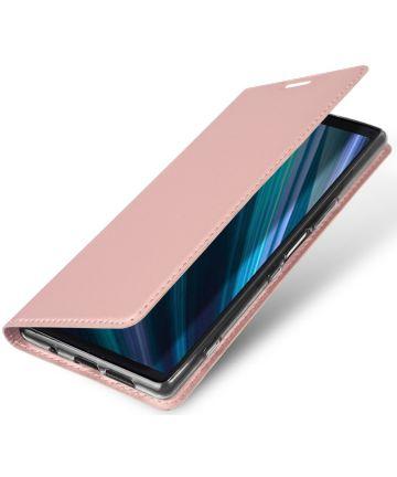 Dux Ducis Skin Pro Series Flip Hoesje Sony Xperia 1 Roze Goud Hoesjes
