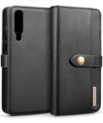 Huawei P30 Leren 2-in-1 Bookcase en Back Cover Hoesje Zwart Hoesjes
