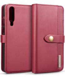 Huawei P30 Leren 2-in-1 Bookcase en Back Cover Hoesje Rood