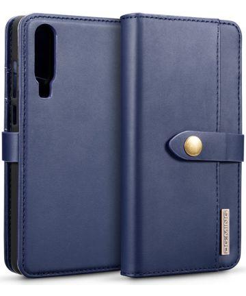 Huawei P30 Leren 2-in-1 Bookcase en Back Cover Hoesje Blauw