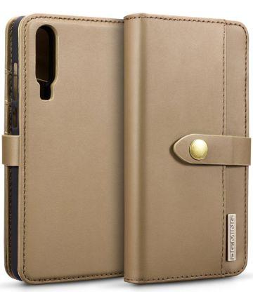 Huawei P30 Leren 2-in-1 Bookcase en Back Cover Hoesje Bruin
