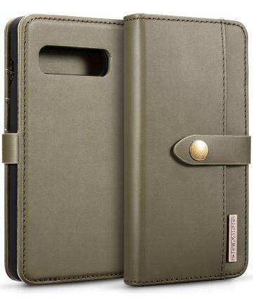 Samsung Galaxy S10 Plus 2-in-1 Bookcase en Back Cover Hoesje Groen Hoesjes