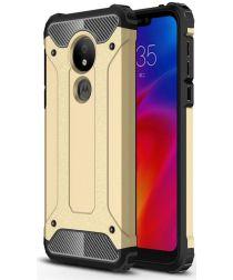 Motorola Moto G7 Power Hybride Hoesje Goud