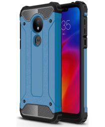 Motorola Moto G7 Power Hybride Hoesje Blauw