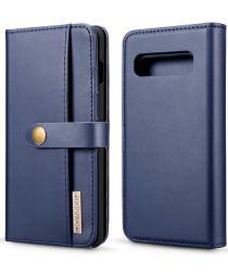 Samsung Galaxy S10 Plus 2-in-1 Bookcase en Back Cover Hoesje Blauw