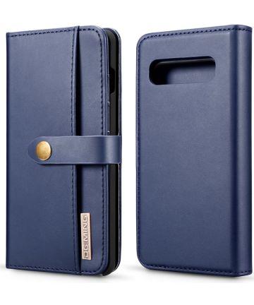 Samsung Galaxy S10 Plus 2-in-1 Bookcase en Back Cover Hoesje Blauw Hoesjes