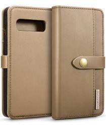 Samsung Galaxy S10 Plus 2-in-1 Bookcase en Back Cover Hoesje Bruin