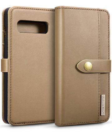 Samsung Galaxy S10 Plus 2-in-1 Bookcase en Back Cover Hoesje Bruin Hoesjes