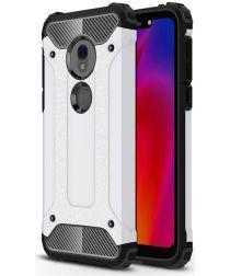 Motorola Moto G7 Play Hybride Hoesje Wit
