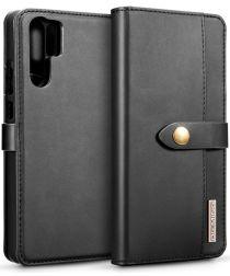 Huawei P30 Pro Leren 2-in-1 Bookcase en Back Cover Hoesje Zwart