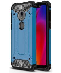 Motorola Moto G7 Play Hybride Hoesje Blauw