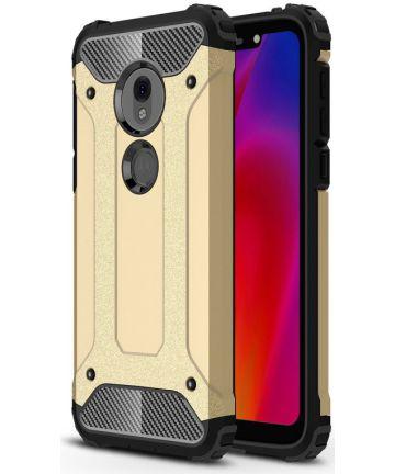 Motorola Moto G7 Play Hybride Hoesje Goud Hoesjes