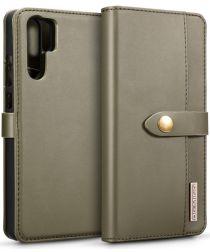 Huawei P30 Pro Leren 2-in-1 Bookcase en Back Cover Hoesje Groen