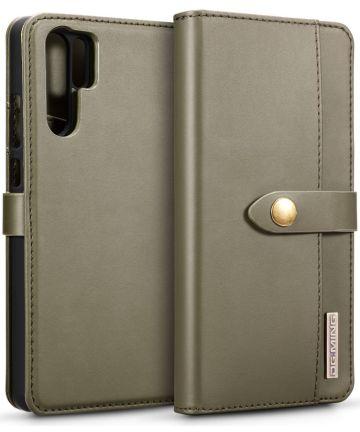 Huawei P30 Pro Leren 2-in-1 Bookcase en Back Cover Hoesje Groen Hoesjes
