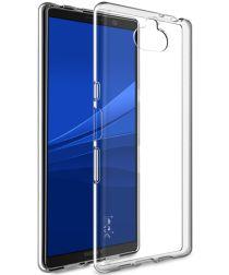 IMAK UX-5 Series Sony Xperia 10 Plus Hoesje Flexibel TPU Transparant
