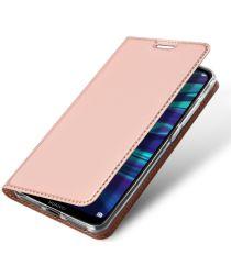 Dux Ducis Premium Book Case Huawei Y7 (2019) Hoesje Roze Goud