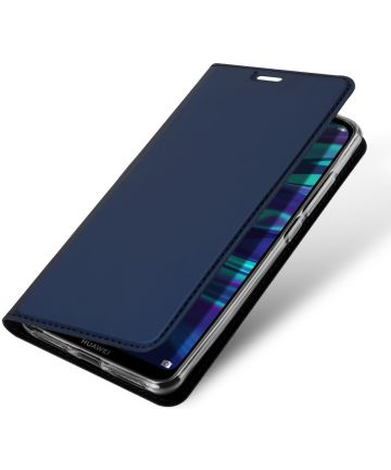Dux Ducis Premium Book Case Huawei Y7 (2019) Hoesje Blauw Hoesjes