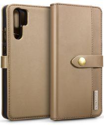 Huawei P30 Pro Leren 2-in-1 Bookcase en Back Cover Hoesje Bruin