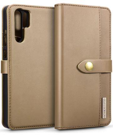 Huawei P30 Pro Leren 2-in-1 Bookcase en Back Cover Hoesje Bruin Hoesjes