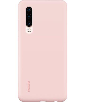 Originele Huawei P30 Silicon Car Hoesje Roze Hoesjes