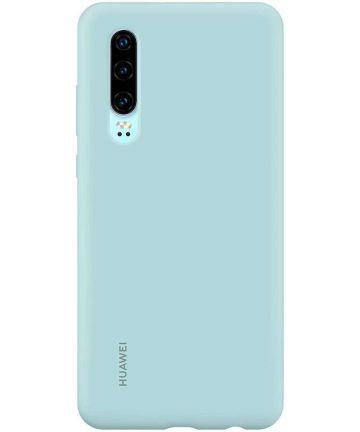 Originele Huawei P30 Silicon Car Hoesje Blauw Hoesjes