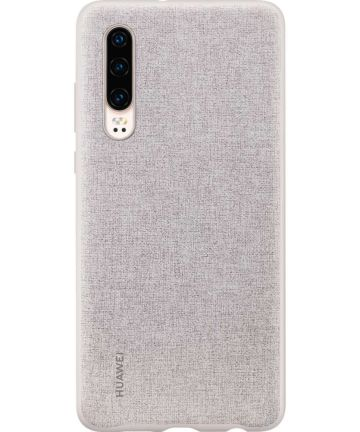 Originele Huawei P30 PU Lederen Back Cover Grijs Hoesjes