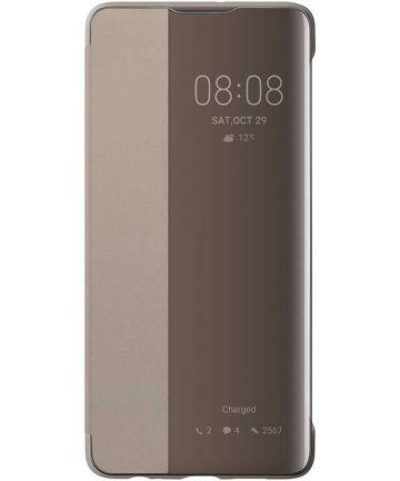 Originele Huawei P30 Smart View Flip Hoesje Khaki Hoesjes