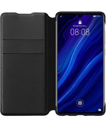 Originele Huawei P30 Wallet Flip Hoesje Zwart