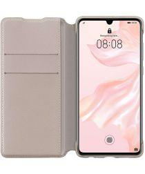 Originele Huawei P30 Wallet Flip Hoesje Khaki