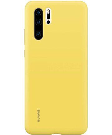 Originele Huawei P30 Pro Silicon Hoesje Geel Hoesjes
