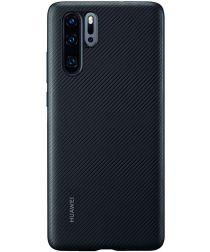Originele Huawei P30 Pro PU Lederen Back Cover Zwart
