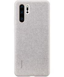 Originele Huawei P30 Pro PU Lederen Back Cover Grijs