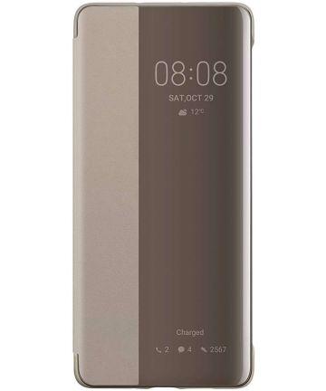 Originele Huawei P30 Pro Smart View Flip Hoesje Khaki Hoesjes